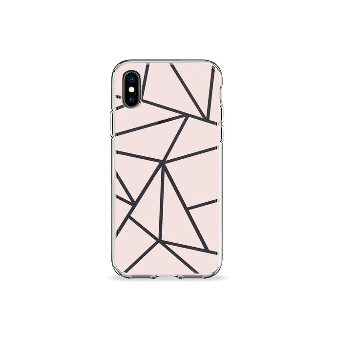 Dusty Rose Geo Clear iPhone Case - bycsera