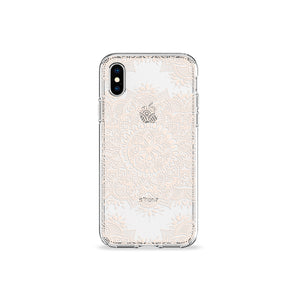 Pearl Mandala Clear iPhone Case