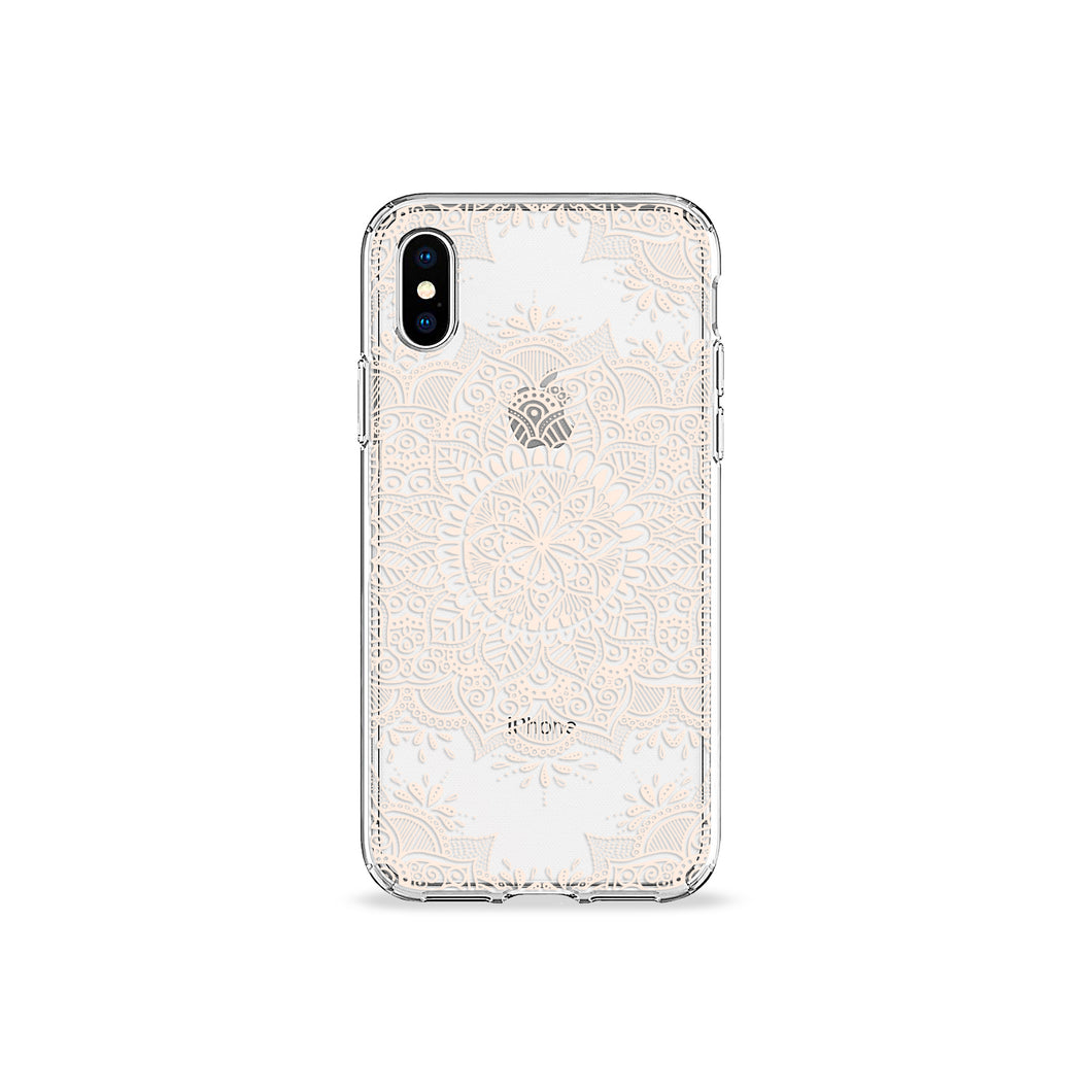 Pearl Mandala Clear iPhone Case - bycsera