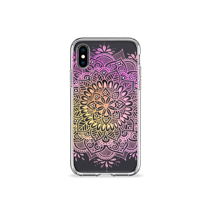 Oleander Mandala Clear iPhone Case - bycsera