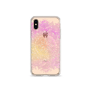 Oleander Mandala Clear iPhone Case,CSERA