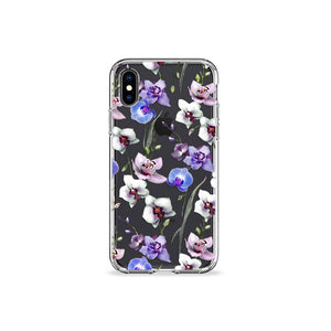 Orchids Clear iPhone Case