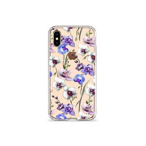 Orchids Clear iPhone Case - bycsera