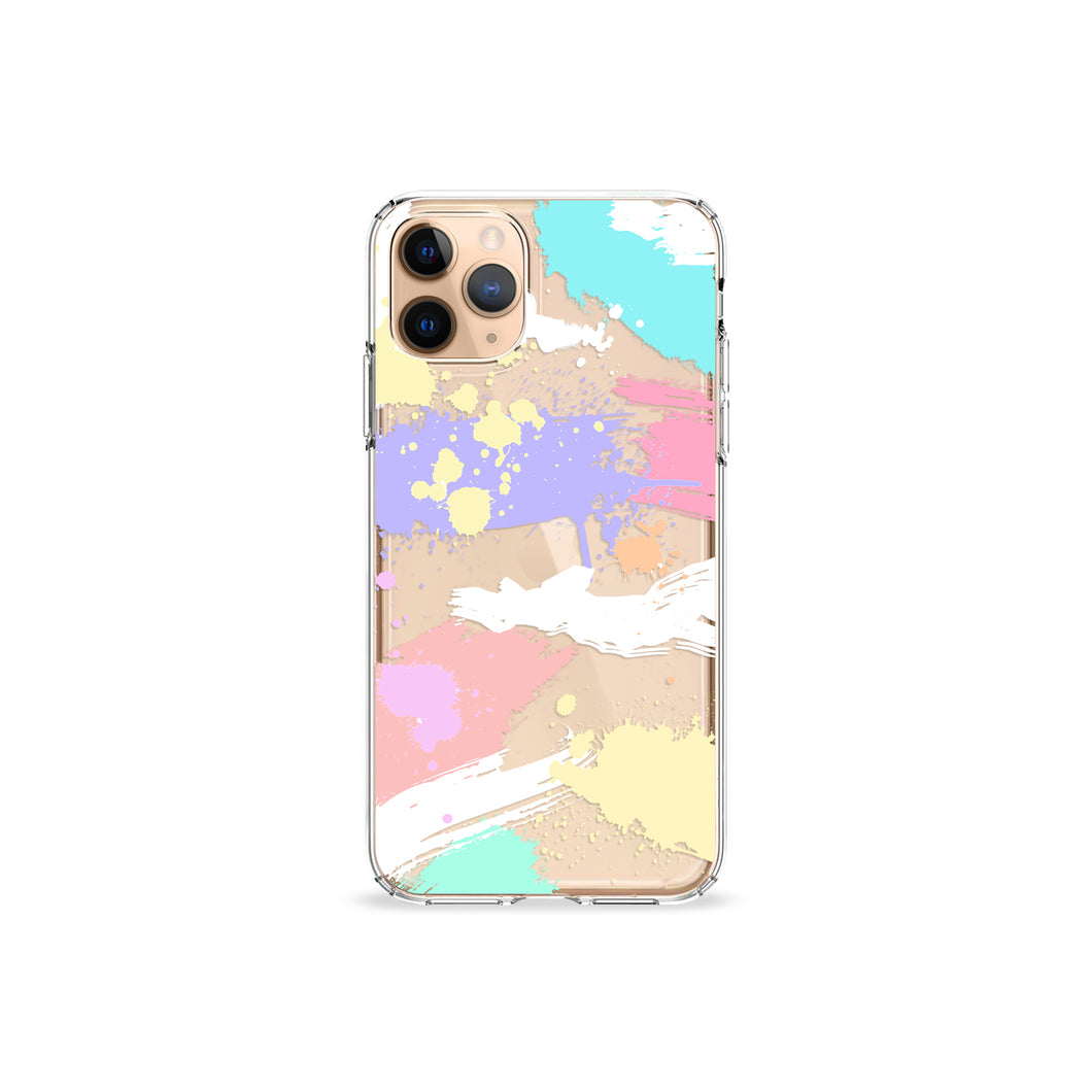 Brush Strokes Clear iPhone Case
