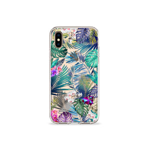 Tropical Medley Clear iPhone Case,CSERA