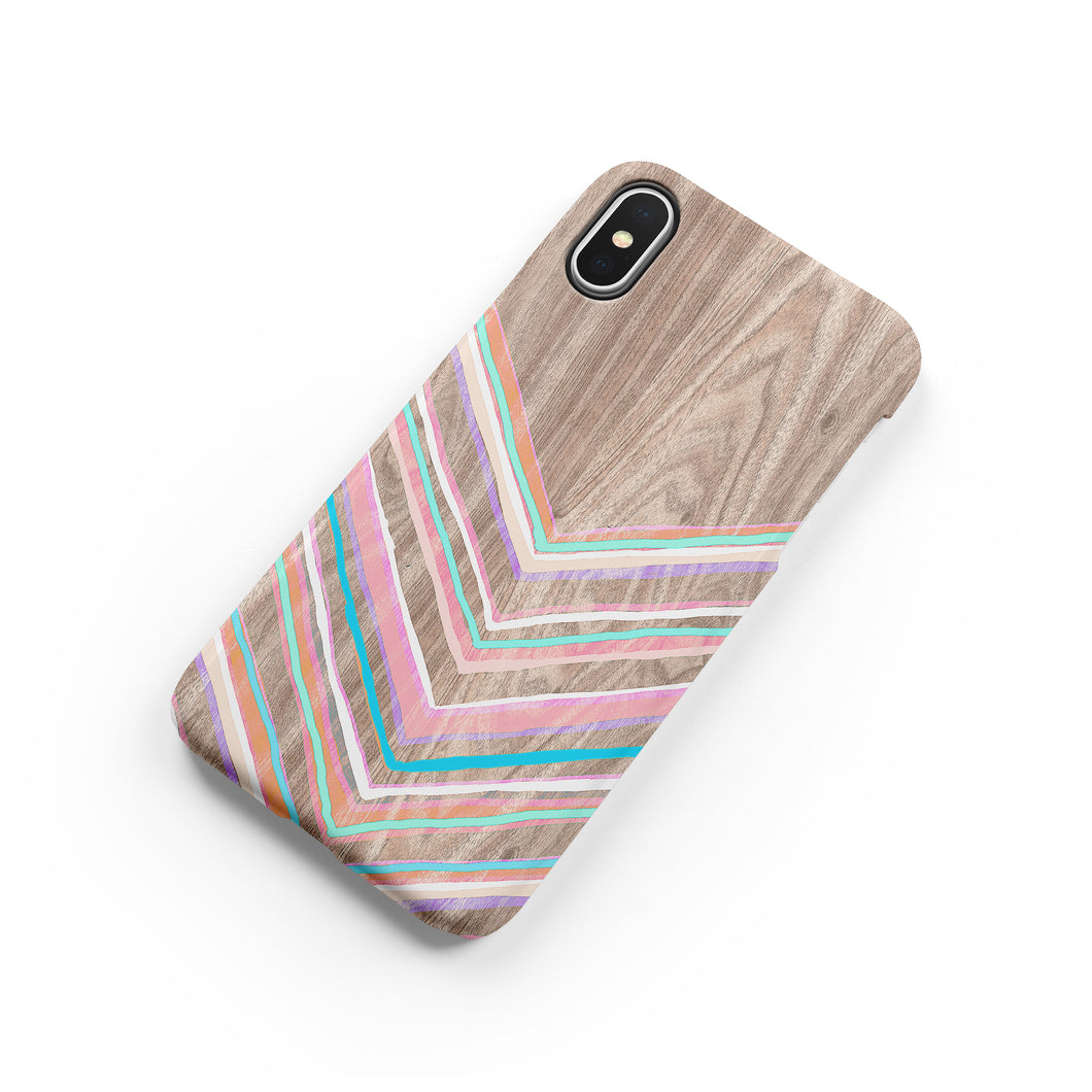 Pastel Chevron Snap iPhone Case,CSERA