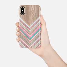 Load image into Gallery viewer, Pastel Chevron Snap iPhone Case,CSERA