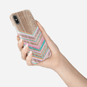Pastel Chevron Snap iPhone Case - bycsera