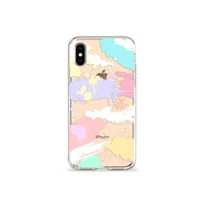 Brush Strokes Clear iPhone Case,CSERA