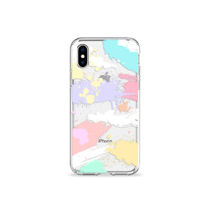 Brush Strokes Clear iPhone Case - bycsera