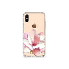 Load image into Gallery viewer, Flower Petal Clear iPhone Case in gold