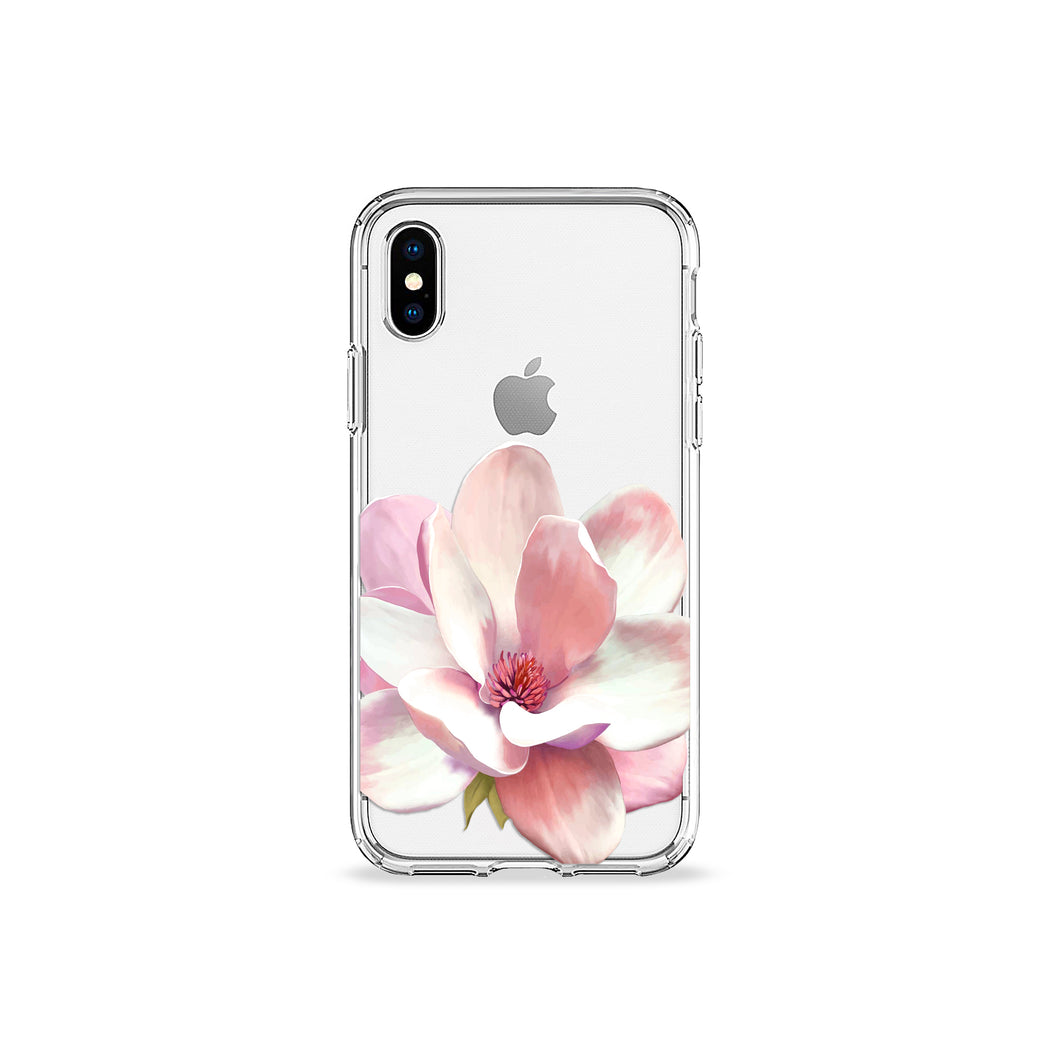 Flower Petal Clear iPhone Case in silver