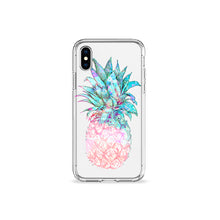 Load image into Gallery viewer, Pastel Pineapple Clear iPhone Case - bycsera