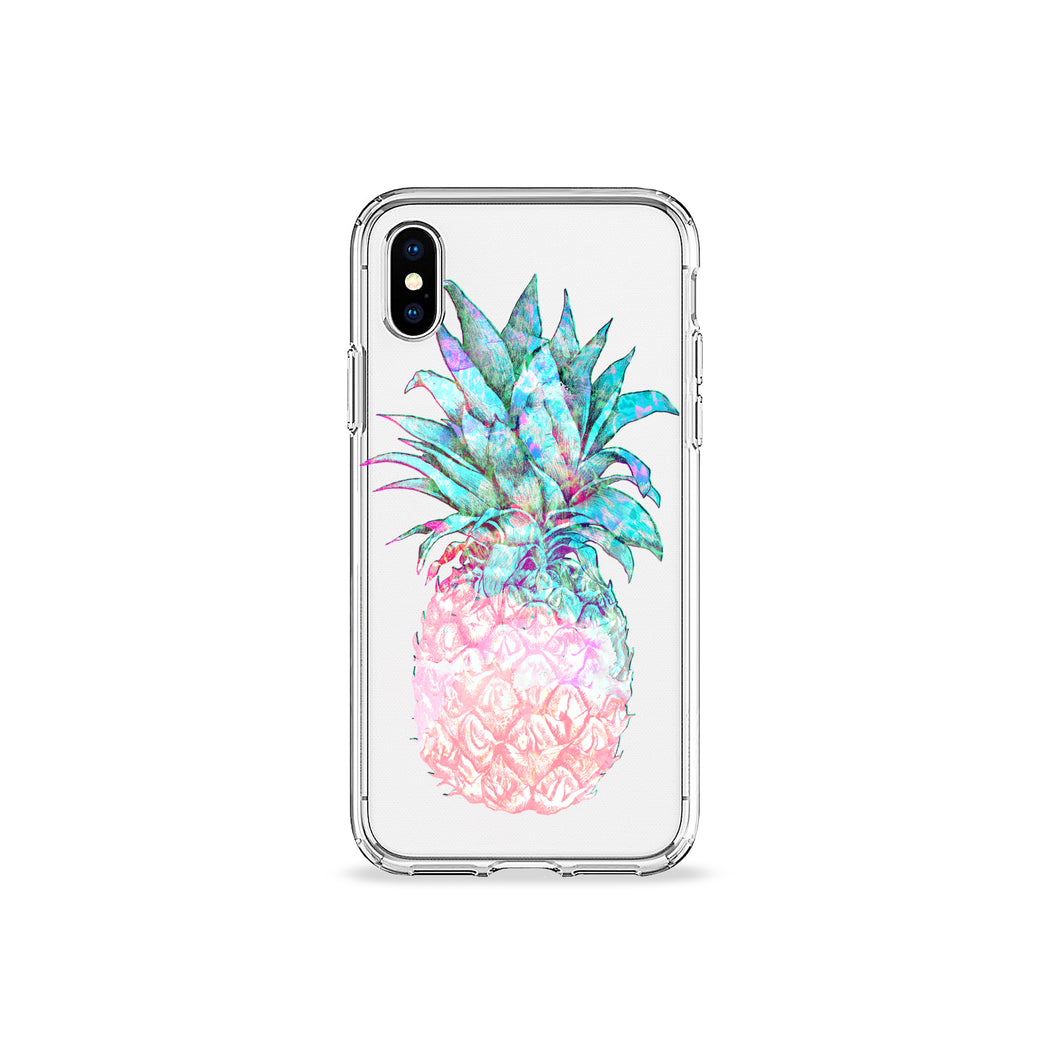 Pastel Pineapple Clear iPhone Case - bycsera