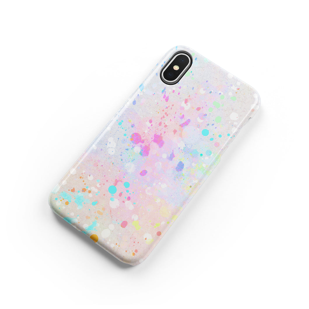 Pastel Splatter Snap iPhone Case,CSERA
