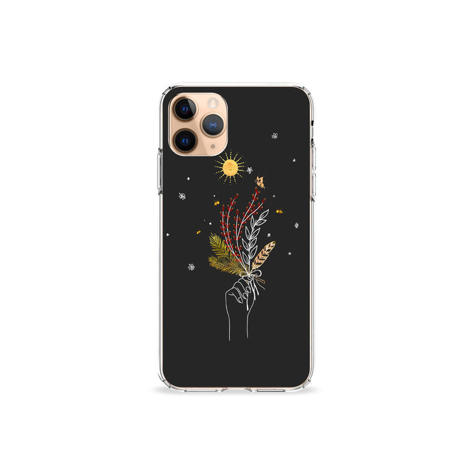 Herbs and Feathers Clear iPhone Case,CSERA