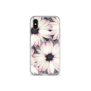 Pressed Flowers Clear iPhone Case,CSERA