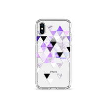 Load image into Gallery viewer, Electric Purple Clear iPhone Case - bycsera