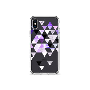 Electric Purple Clear iPhone Case - bycsera