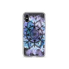 Load image into Gallery viewer, Violet Mandala Clear iPhone Case,CSERA