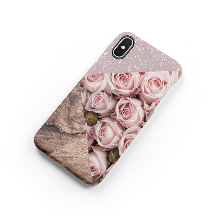 Rose Pink Wood Snap iPhone Case