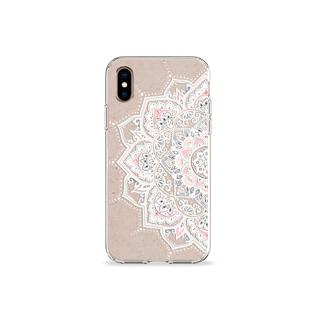 Sand Mandala Clear iPhone Case - bycsera