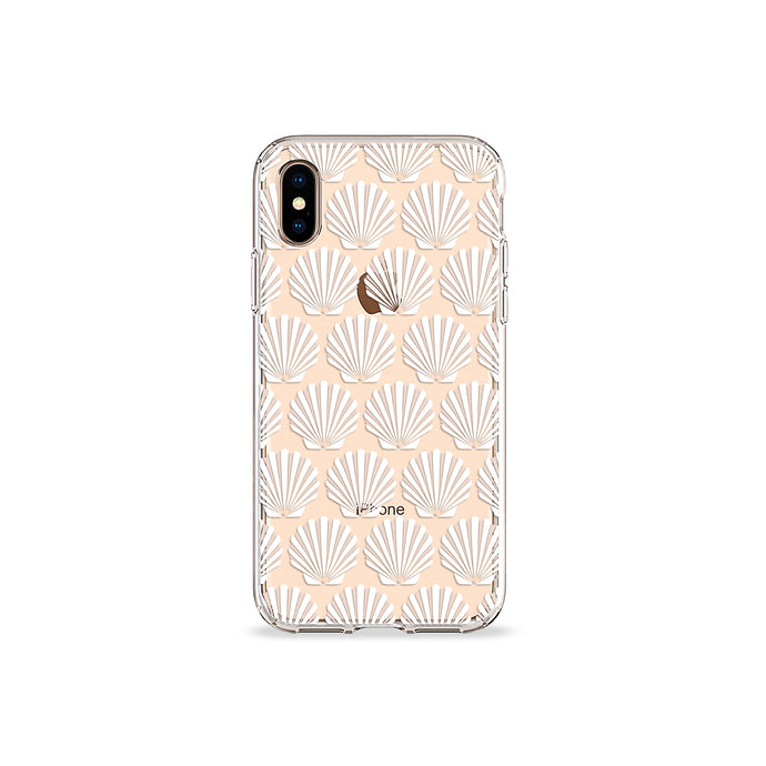 Seashells Clear iPhone Case - bycsera