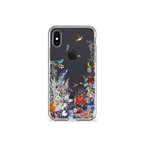 Fox Garden Clear iPhone Case