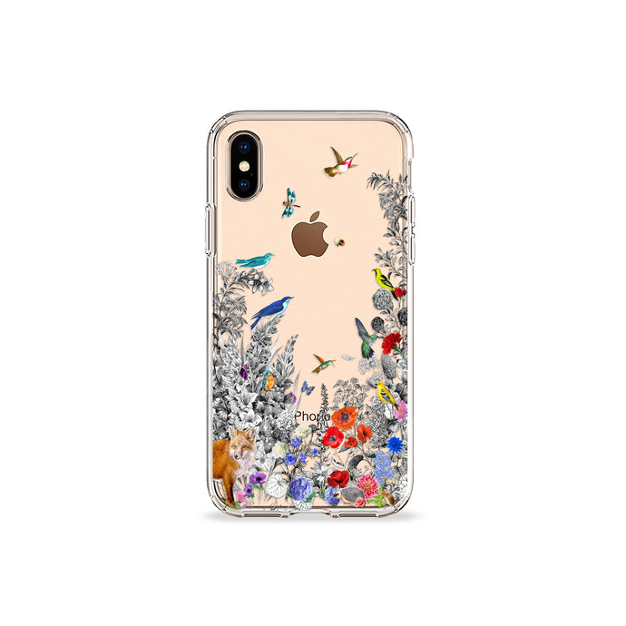 Fox Garden Clear iPhone Case,CSERA