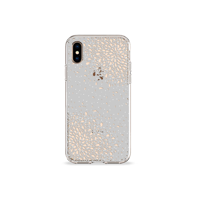 Confetti Grey Clear iPhone Case,CSERA