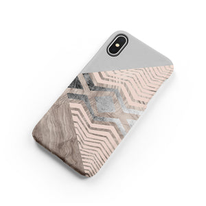 Silver Wood Snap iPhone Case,CSERA