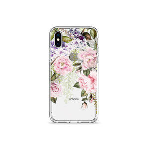 Blush Peonies Clear iPhone Case - bycsera
