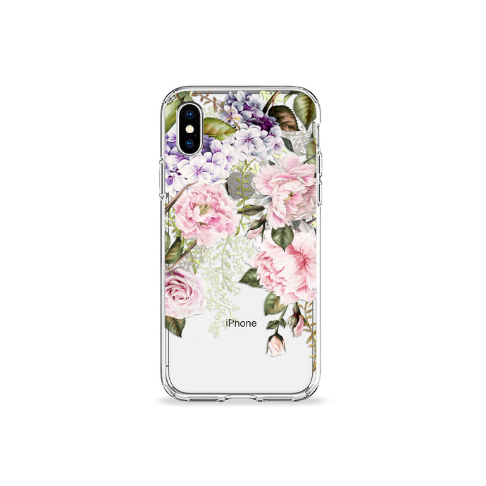 Blush Peonies Clear iPhone Case