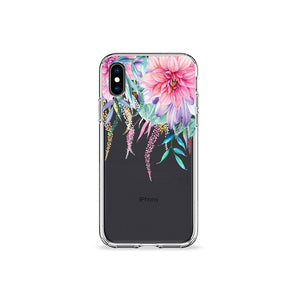 Spring Garden Clear iPhone Case - bycsera