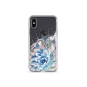 Succulent Garden Clear iPhone Case,CSERA
