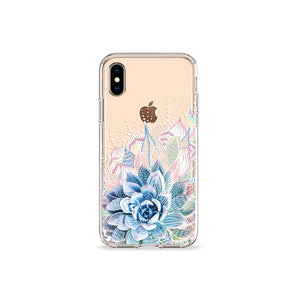 Succulent Garden Clear iPhone Case