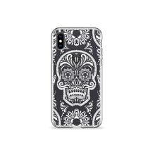 Load image into Gallery viewer, Sugar Skull Clear iPhone Case