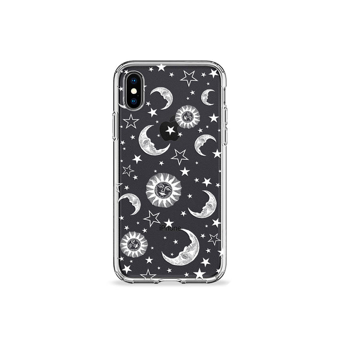 Sun Moon and Stars Clear iPhone Case,CSERA