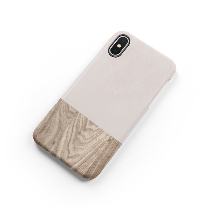 Taupe Wood Snap iPhone Case - bycsera
