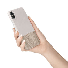 Load image into Gallery viewer, Taupe Wood Snap iPhone Case,CSERA