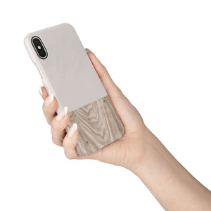 Taupe Wood Snap iPhone Case