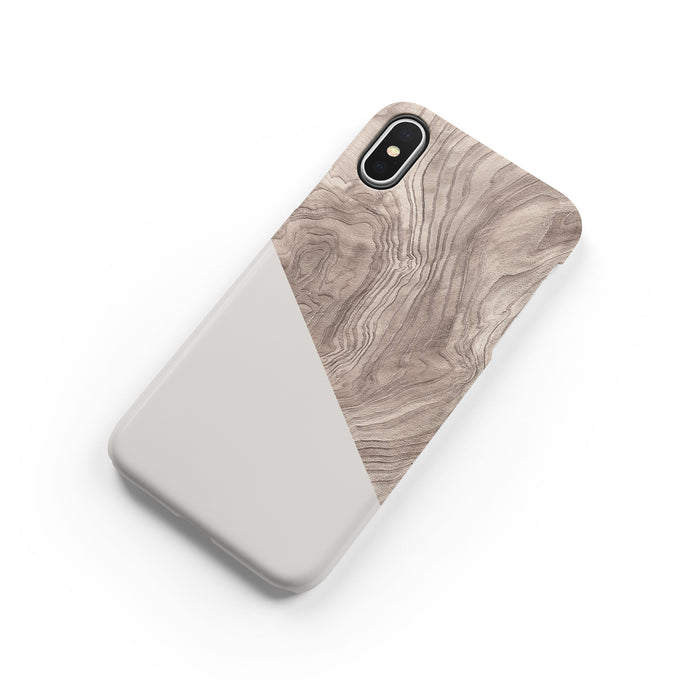 Taupe Pine Snap iPhone Case