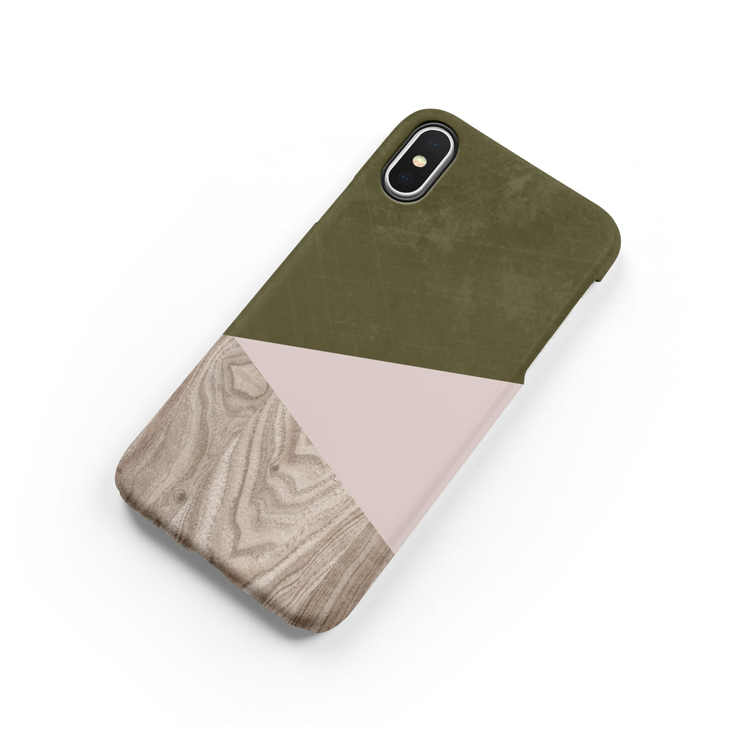 Terrarium Moss Wood Snap iPhone Case - bycsera