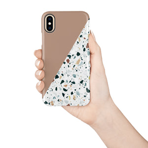 Toffee Terrazzo Snap iPhone Case - bycsera