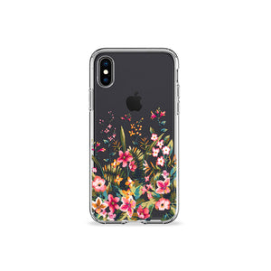 Retro Florals Clear iPhone Case - bycsera