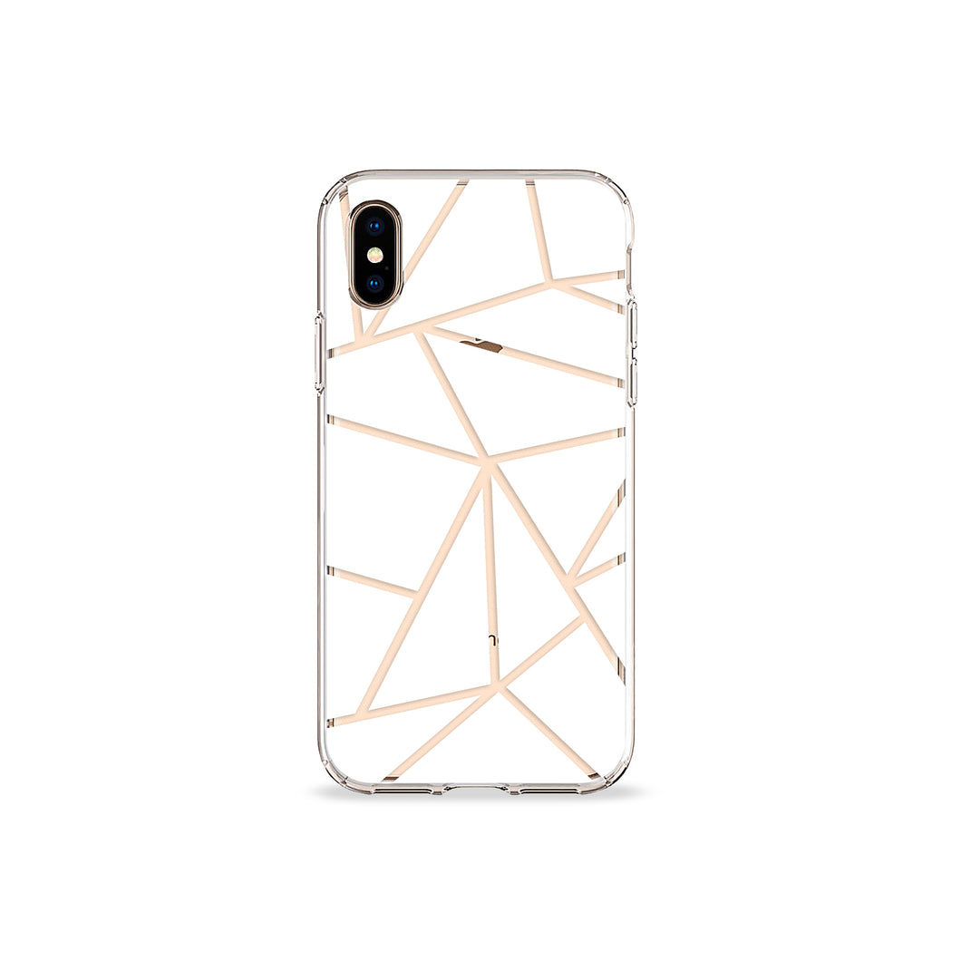 White Iso Clear iPhone Case
