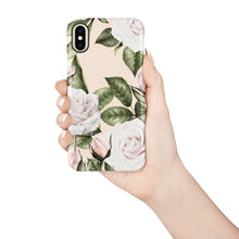 Load image into Gallery viewer, White O'Hara Rose Snap iPhone Case