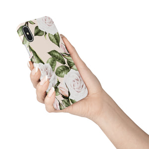 White O'Hara Rose Snap iPhone Case