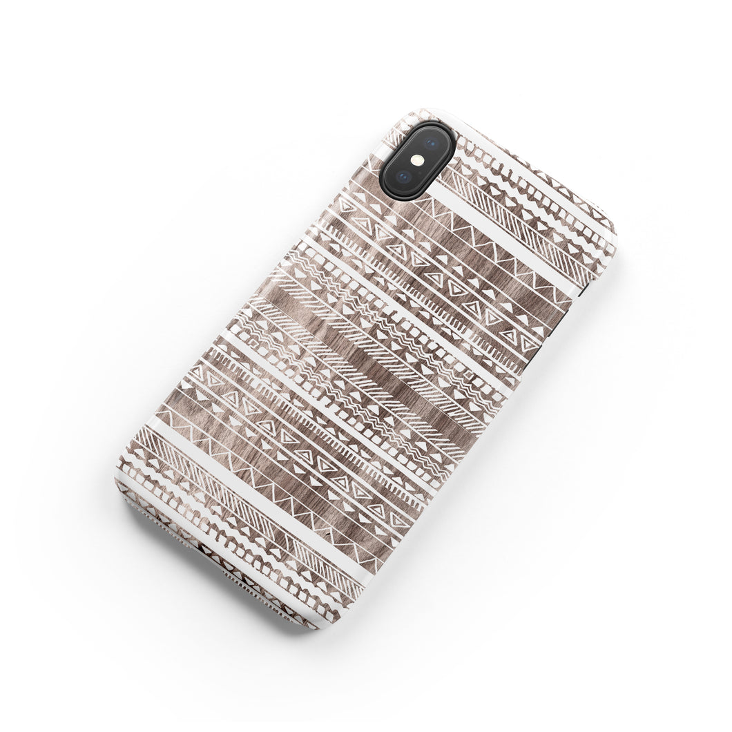 Stripe White Snap iPhone Case