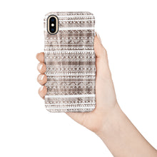 Load image into Gallery viewer, Stripe White Snap iPhone Case